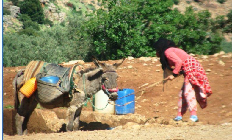 Photo of Douar Moudj de la Commune de Foum El Ancer: à un quart d'heure de route de Béni Mellal, la corvée d'eau quotidienne pour les femmes du village